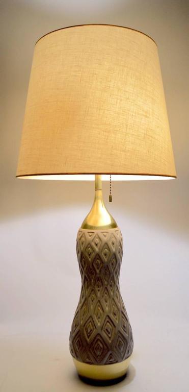 Gerald Thurston For Lightolier Ceramic And Brass Table