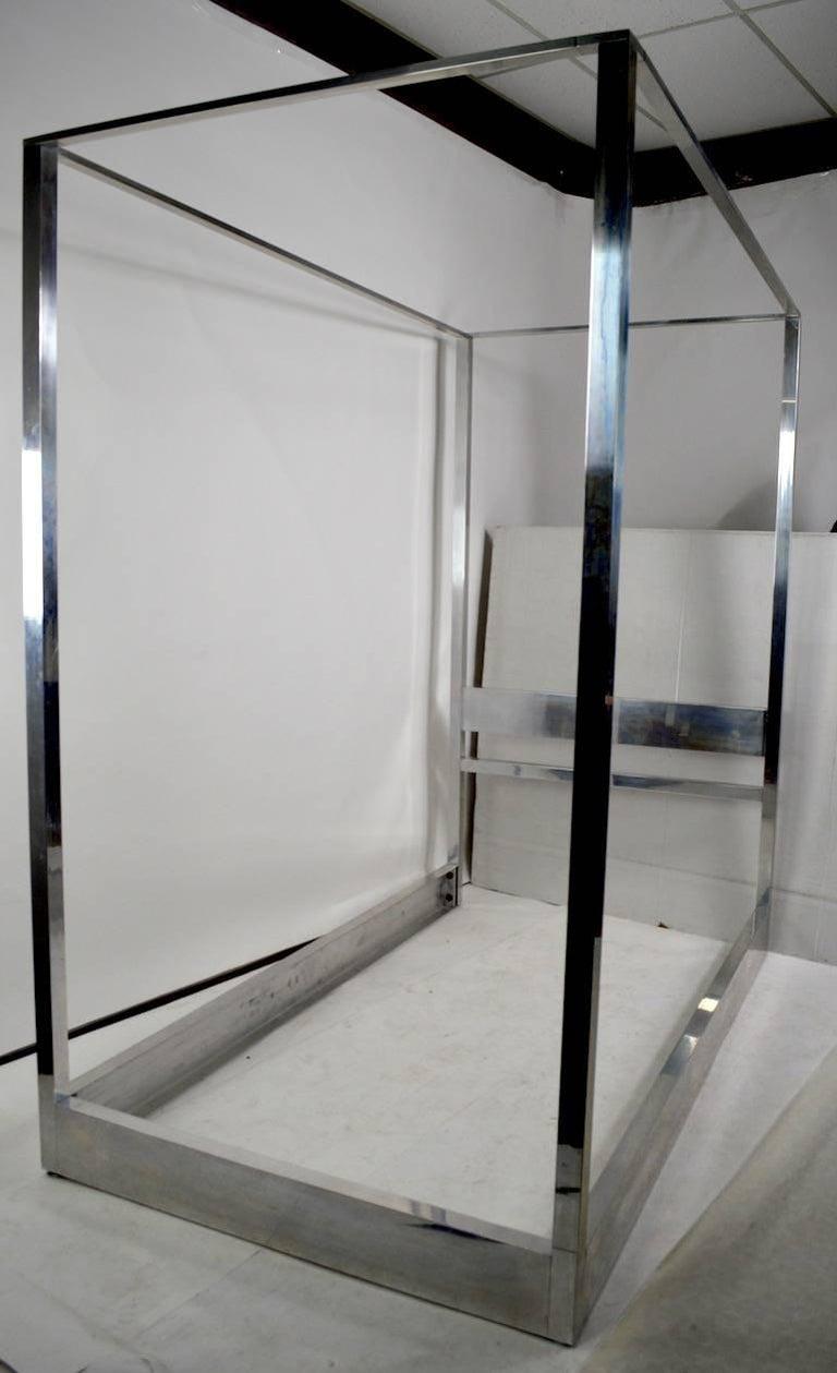 aluminum canopy tester bed for sale at 1stdibs. Black Bedroom Furniture Sets. Home Design Ideas