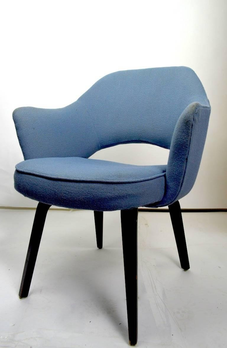 American Early Saarinen Executive Dining Chair Armchair Version For Sale