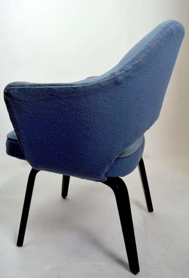 Mid-Century Modern Early Saarinen Executive Dining Chair Armchair Version For Sale