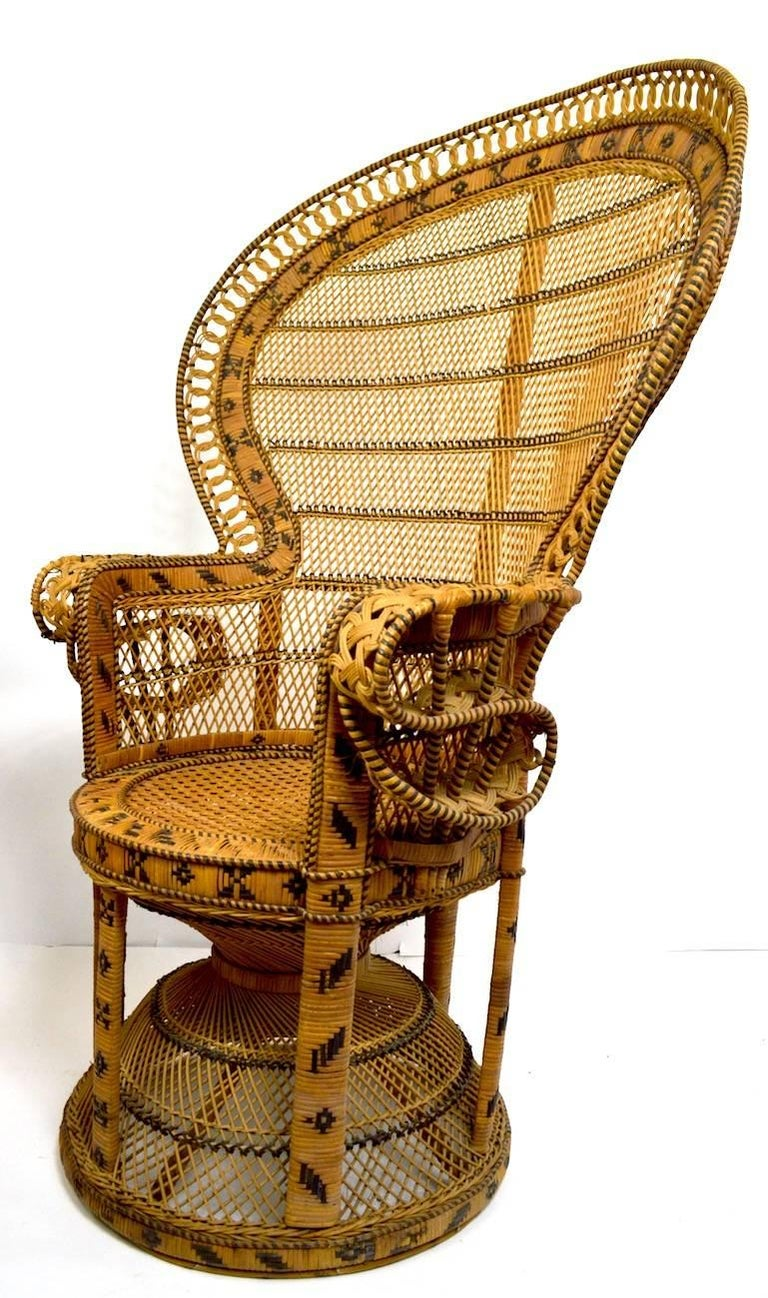 Wicker Emmanuel Peacock Chair 5