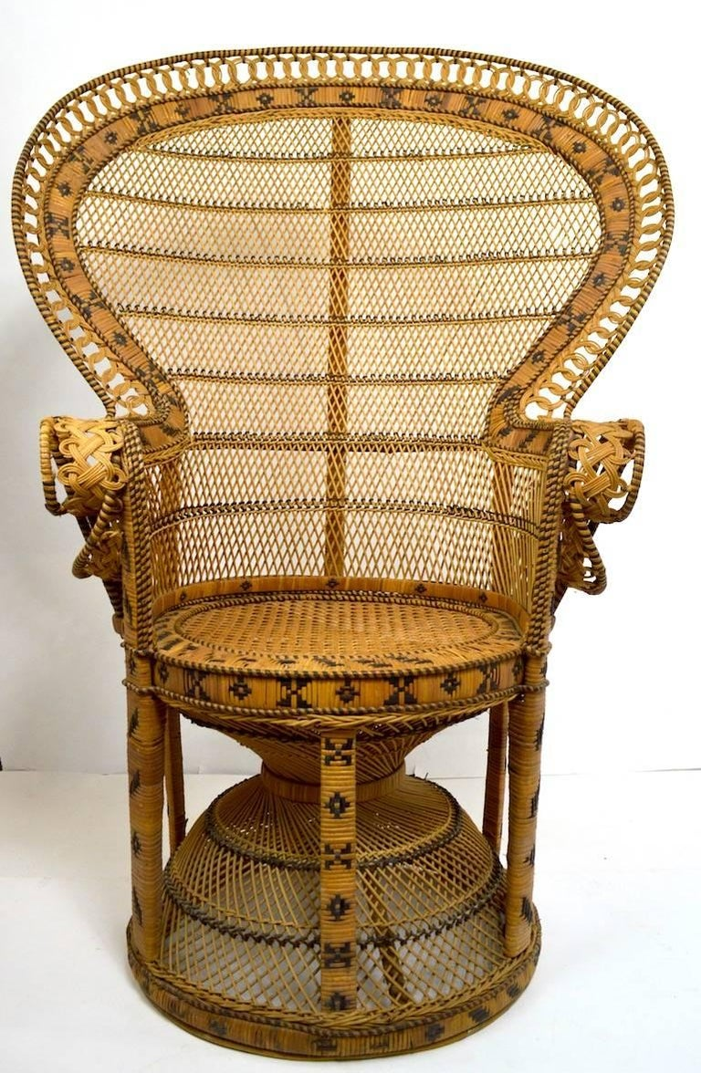 20th Century Wicker Emmanuel Peacock Chair For Sale