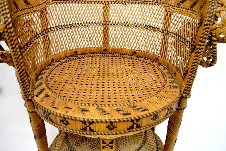 Philippine Wicker Emmanuel Peacock Chair For Sale