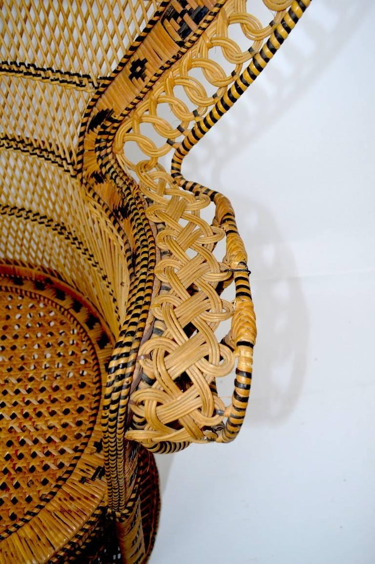 Wicker Emmanuel Peacock Chair 9