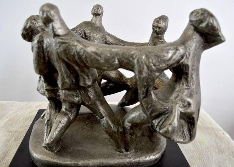Brutalist Klara Sever Sculpture Circle of Humanity For Sale