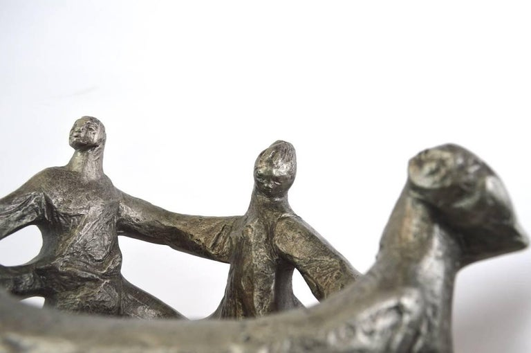 Klara Sever Sculpture Circle of Humanity In Excellent Condition For Sale In New York, NY