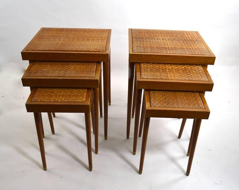 20th Century Pair of Nesting Stacking Tables For Sale