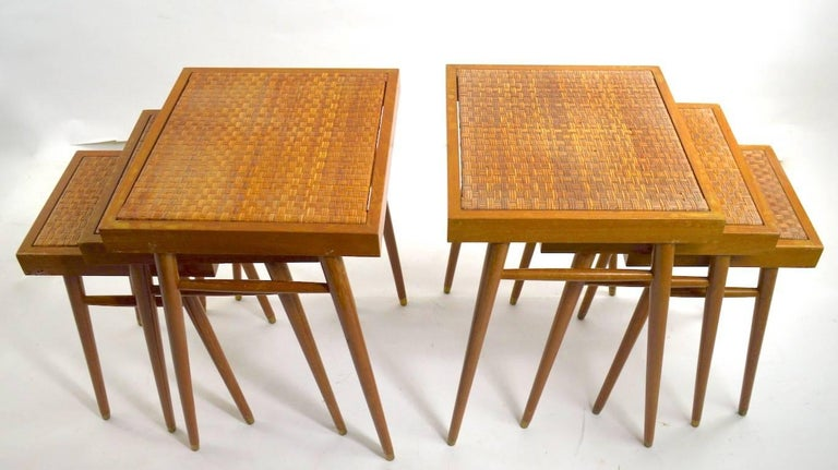Pair of Nesting Stacking Tables For Sale 1