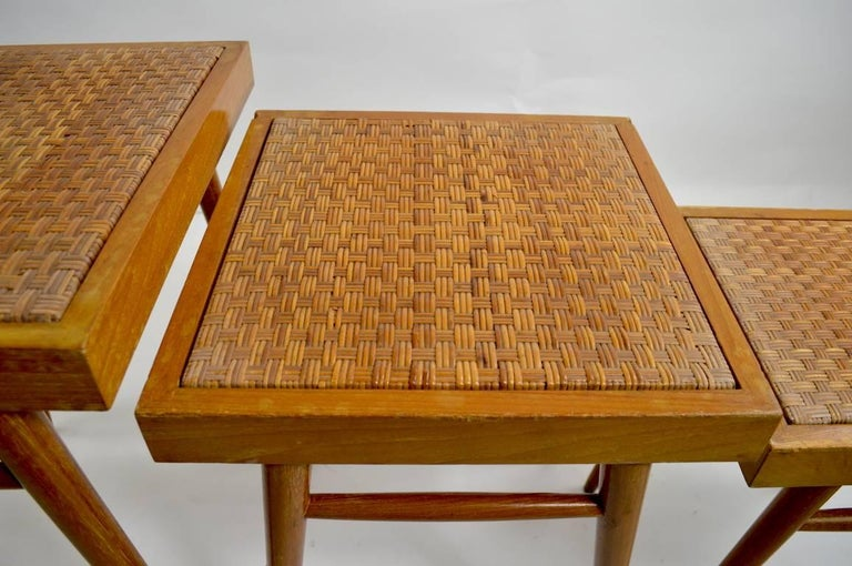 Hong Kong Pair of Nesting Stacking Tables For Sale