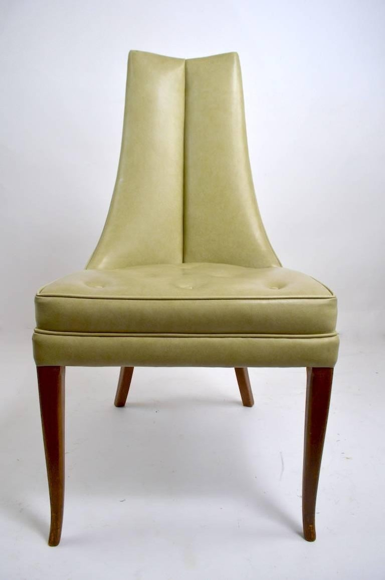 Pr. Stylish High Back Side Chairs In Good Condition For Sale In New York, NY