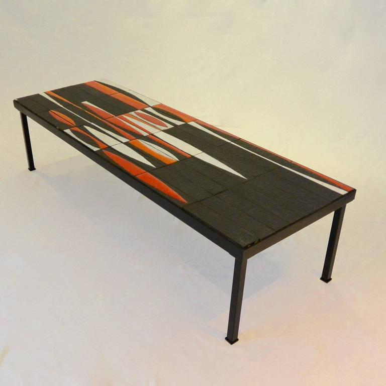 Iconic coffee table navette by roger capron circa 1950 for Iconic tables