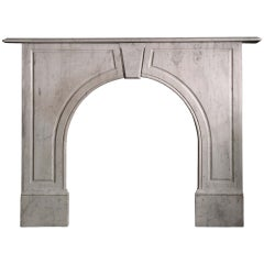 Early Victorian Arched Carrara Marble Mantel 'VIC-S90'