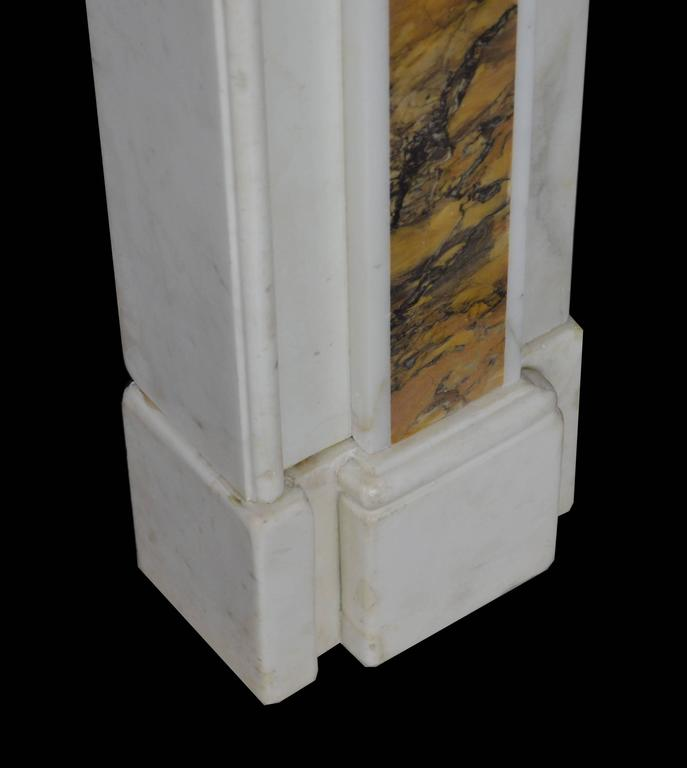 "18th Century ""Dublin"" Chimneypiece in Statuary Marble with Siena Marble 5"