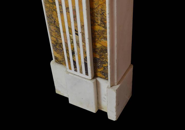 Northern Irish 18th Century Irish Chimneypiece in Statuary Marble with Convent Siena Marble For Sale