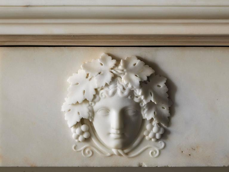 18th Century Regency Mantel in Statuary Marble, NY-135 2