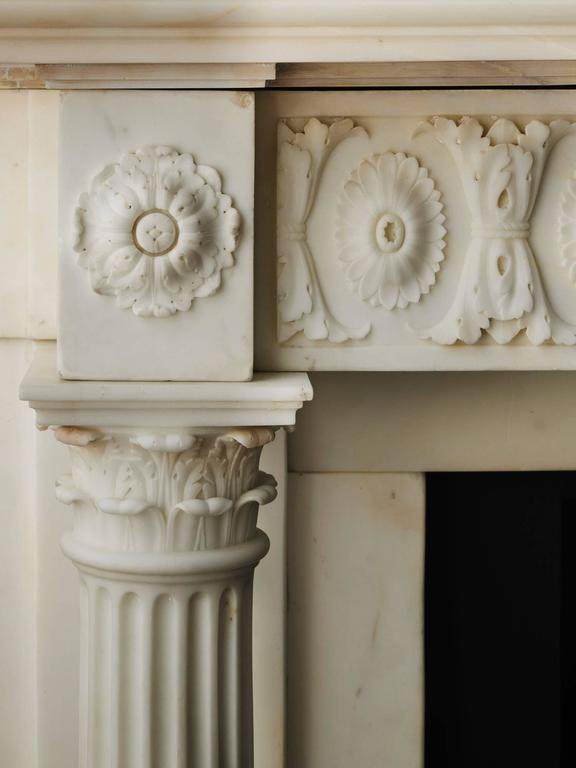 18th Century Regency Mantel in Statuary Marble, NY-135 3