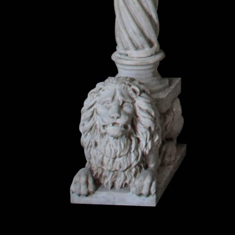 Carved Antique Venetian Style Carrara Mantel For Sale