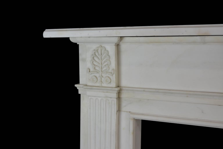 English 19th Century Neoclassical Statuary Marble Mantelpiece, 'GEO-ZE97' For Sale