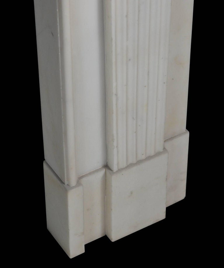 19th Century Neoclassical Statuary Marble Mantelpiece, 'GEO-ZE97' For Sale 1