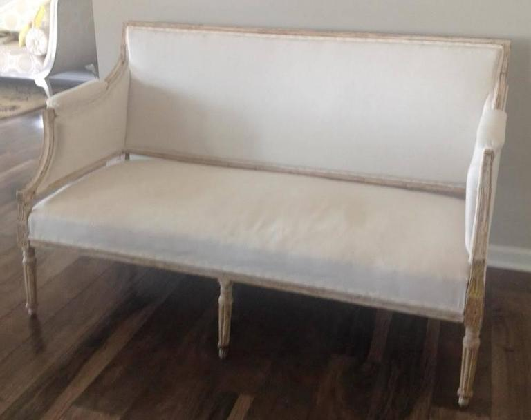 19th Century Swedish Gustavian Sofa in Original Paint For Sale 5