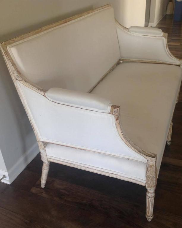 19th Century Swedish Gustavian Sofa in Original Paint In Excellent Condition For Sale In Wichita, KS