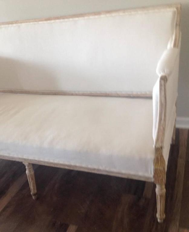 19th Century Swedish Gustavian Sofa in Original Paint For Sale 3