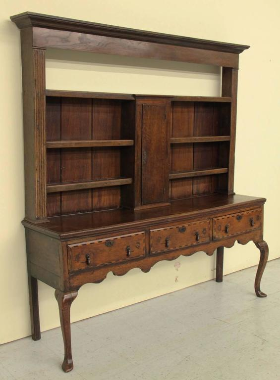 English Georgian Hutch or Welsh Dresser in Two Parts, 18th Century Antique  2