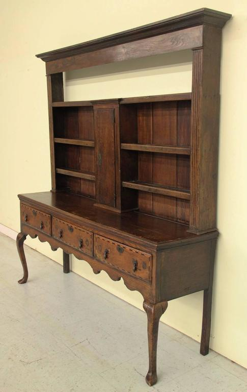 English Georgian Hutch or Welsh Dresser in Two Parts, 18th Century Antique  7