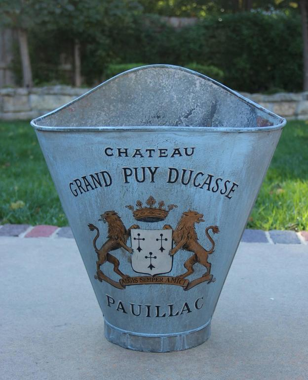 Metal French Zinc Grape Hods, 19th Century Antique For Sale