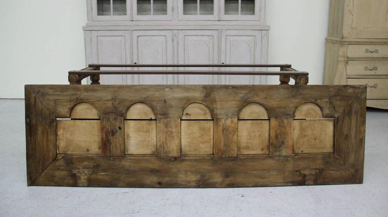 Spanish Provincial Antique Bishop's Bench as Console Table, 19th Century 10