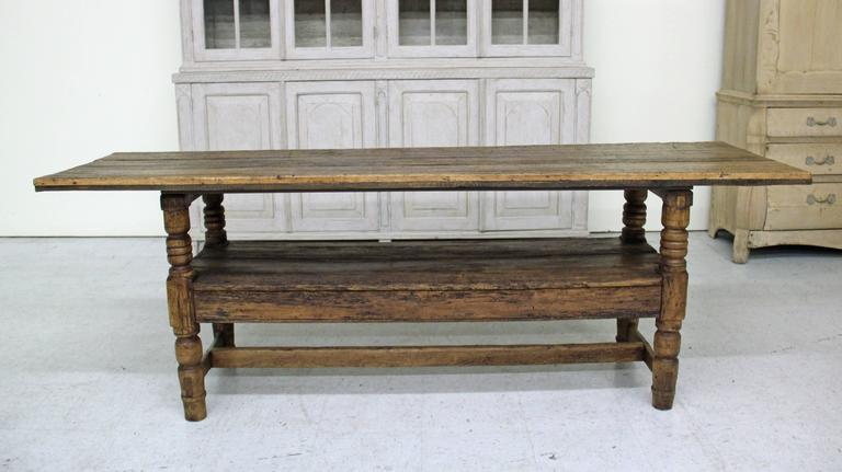 Spanish Provincial Antique Bishop's Bench as Console Table, 19th Century 7