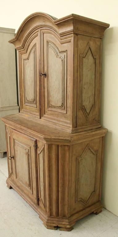 18th Century Swedish Baroque Period Two-Part Original Painted Cabinet  For Sale 1