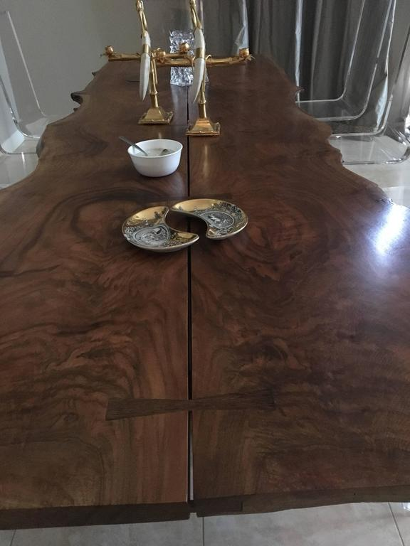 American Black Walnut Dining Table with Butterfly Joinery by Twentieth Studio For Sale 1