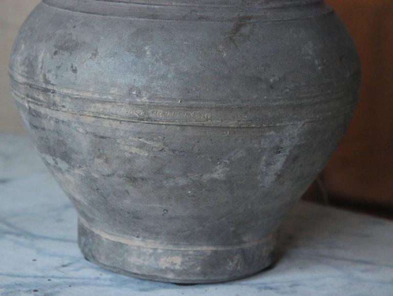 Chinese Han Dynasty Unglazed Vase Antique Table Lamp 5
