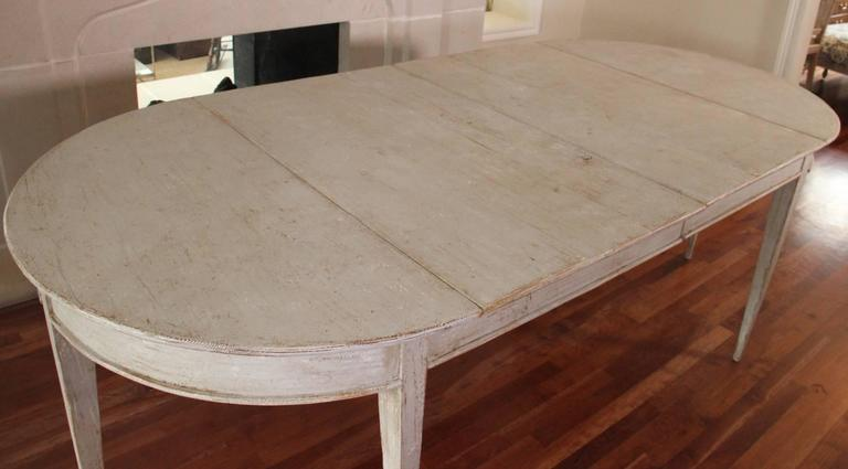 19th Century Swedish Gustavian Period Extension Dining Table For Sale 1
