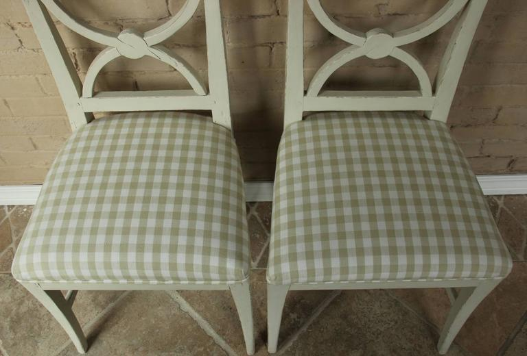 19th Century Swedish Pair of Gustavian Style Side Chairs For Sale 2