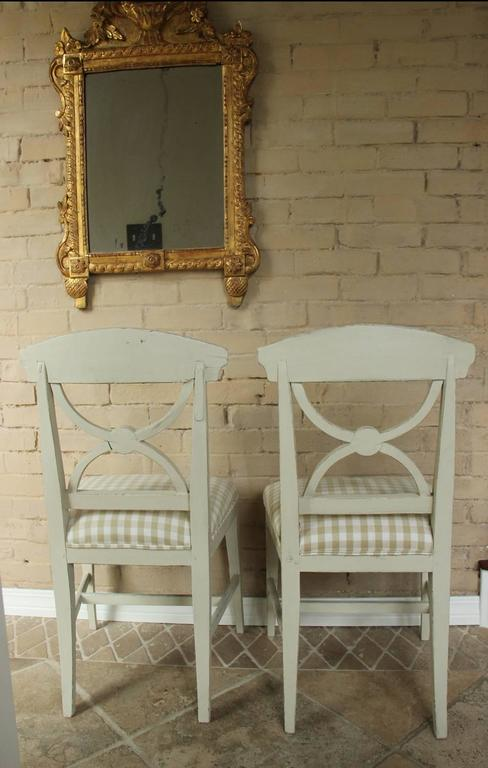 19th Century Swedish Pair of Gustavian Style Side Chairs For Sale 4
