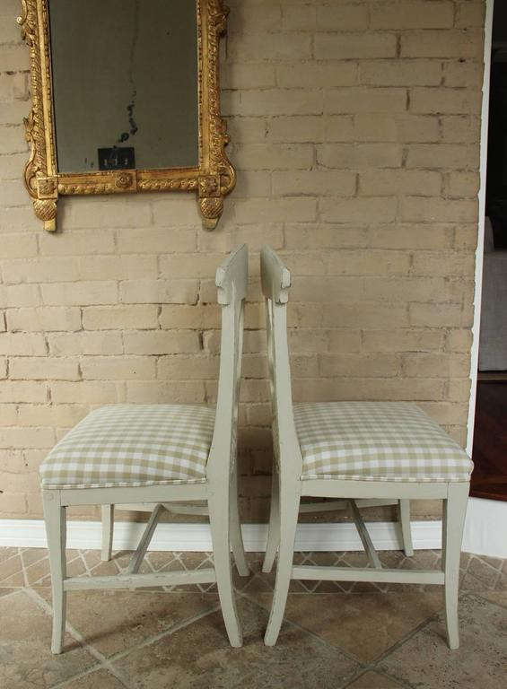 19th Century Swedish Pair of Gustavian Style Side Chairs 8