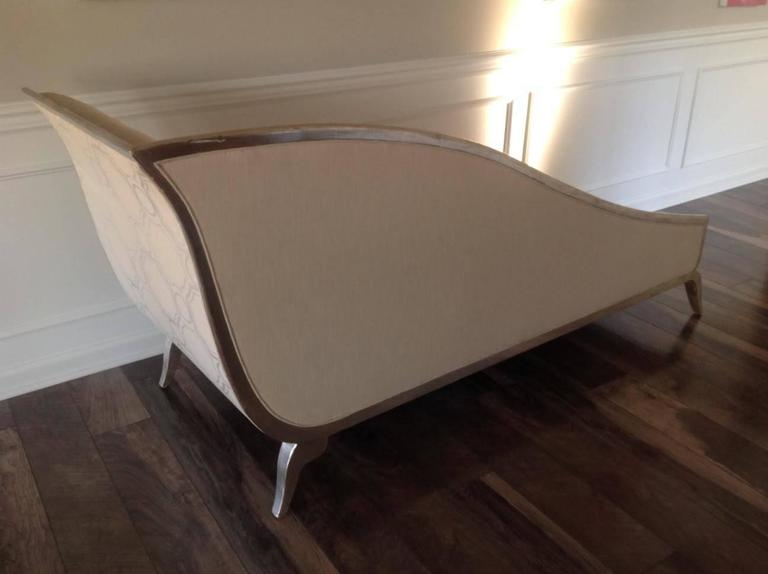 French Art Deco Style Silver Gilt Sleigh Back Recamier 6