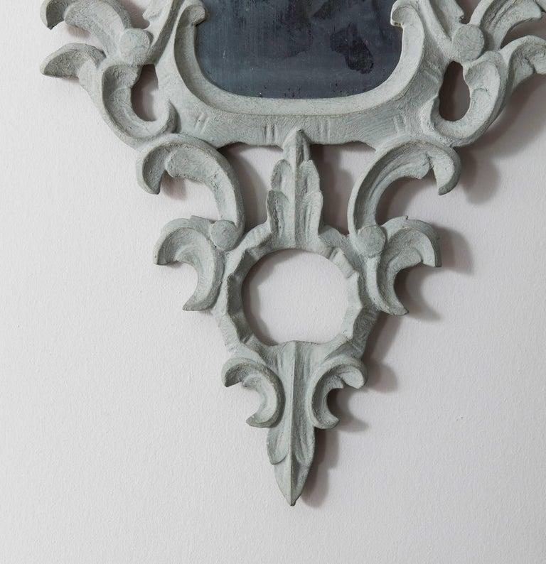 Italian 19th Century Pair of Venetian Mirrors Appliqués with Original Mirror Plate   For Sale