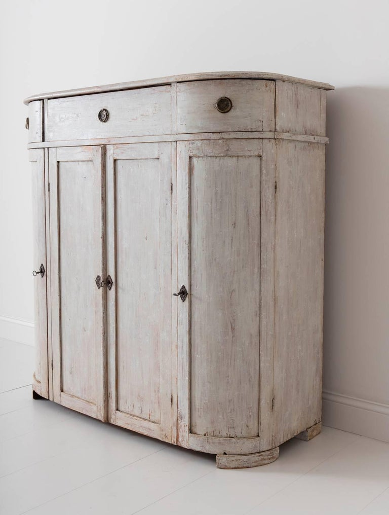 19th Century Swedish Period Gustavian Painted Buffet Cabinet 5