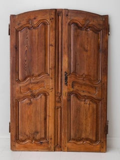 18th Century Pair of French Louis XV Style Walnut Armoire Doors