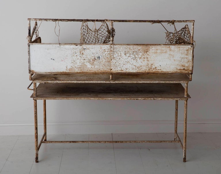 Early 20th Century American Iron Oyster Table For Sale 5