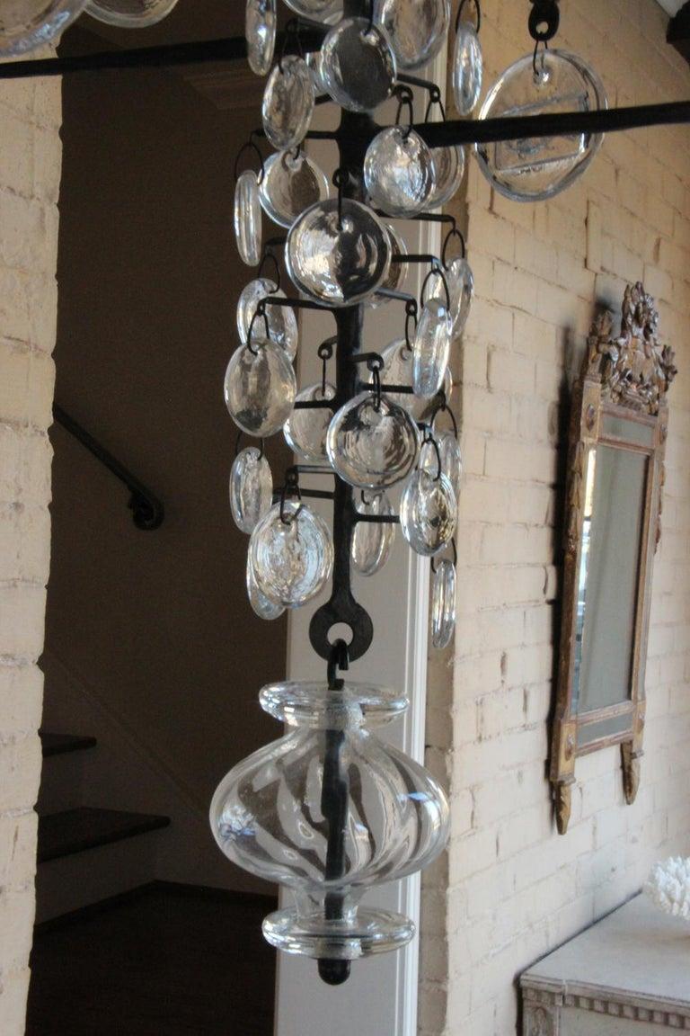 Mid-Century Modern Twelve-Arm Chandelier by Erik Höglund For Sale 3