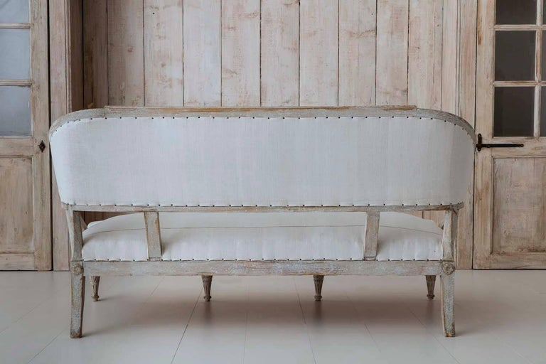 19th Century Swedish Gustavian Barrel Back Sofa Settee For Sale 4