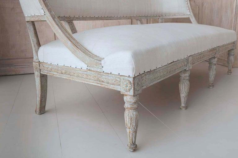 19th Century Swedish Gustavian Barrel Back Sofa Settee For Sale 5