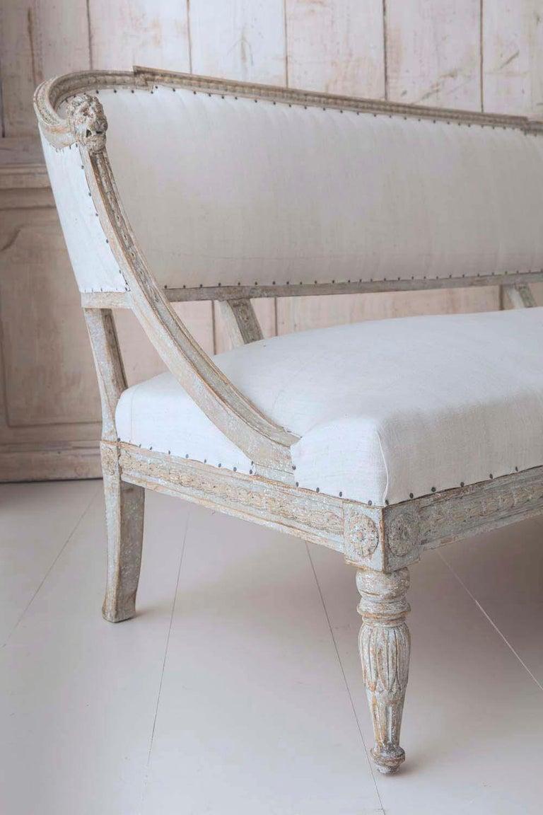 19th Century Swedish Gustavian Barrel Back Sofa Settee For Sale 6