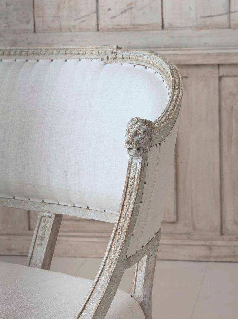 19th Century Swedish Gustavian Barrel Back Sofa Settee For Sale 2
