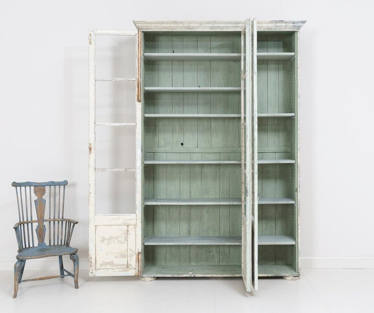 Wood 19th Century French Bibliothèque Bookcase or Vitrine For Sale
