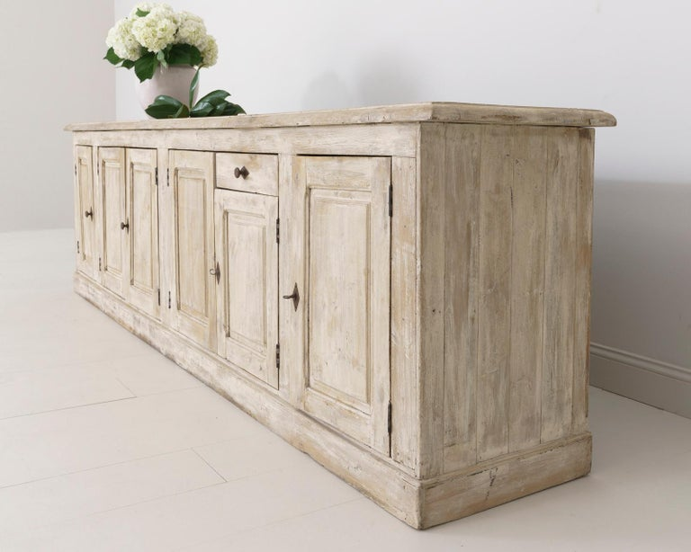 Gesso 19th Century French Provençal Louis Philippe Style Enfilade in Original Patina For Sale